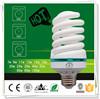 T4 12W 8000h 6400K E27 B22 tri-phosphor spiral energy saving lamp