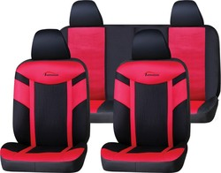 Guangzhou car interior product PU Leather+Mesh car seat cover with logo