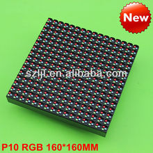 10mm Pixel Pitch P10 Led RGB Module, P10 RGB Module Outdoor 160*160mm