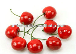 New arrival wedding party crafts artificial fruits red cherry decorations imitated fruits ornamental fruits