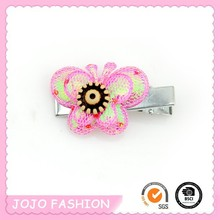 Fashion high quality wholesale girls sequin butterfly hair clip