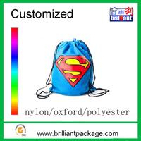 Custom print wholesale cheap promotional drawstring sports backpack bag