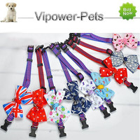 Wholesale Dog Collar Fashion Pet Collar Braided Dog Bow Collar Lovely Cat Collar With Bell Free Shipping