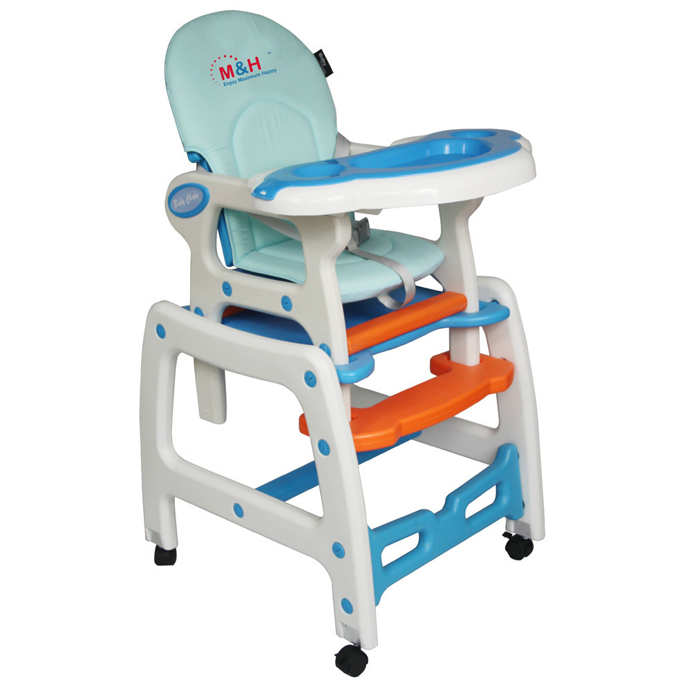 Baby High Chair 3 In 1 Multifunctional Plastic Highchair Kids Dinner Chair Wi