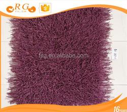 artificial hairy custom nonslip exhibition plain round floor mat