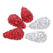 Various colors 12*8 mm water drop shape crystal alibaba beads