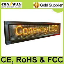 CE approved programmable led sign with yellow color and size 104*24cm