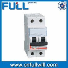 best price of China ISO 9001 CE DX-2P 2pole mini circuit breaker