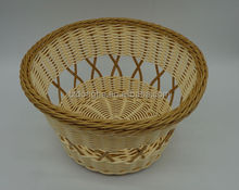 Cheap handwoven colored bread pp rattan basket for food 3001-E