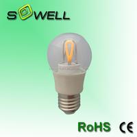 170-260V 6W E27 A55 CE/EMC/GS/ERP/SASO Glass cover COB LED Filament bulbs