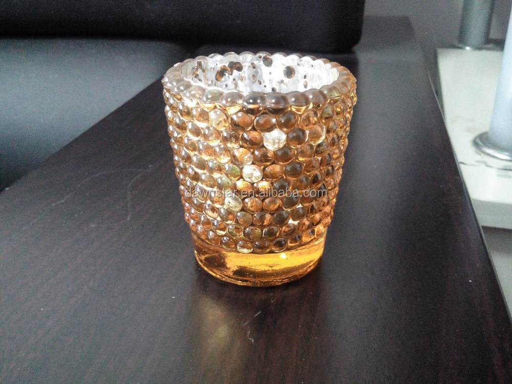 gold candle holder with pattern mercury glass votives wholesale buy mercury glass votives. Black Bedroom Furniture Sets. Home Design Ideas