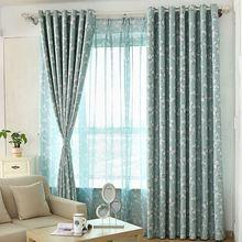 Sweet garden prints cotton flower pattern high quality polyester window curtain