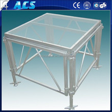 2015 best sales aluminium frame acrylic platform stage/ anti-slip stage/ dance floor glass stage