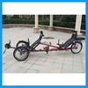 Electric 3 wheel tandem recumbent trike