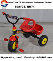 simple child tricycle without pushbar
