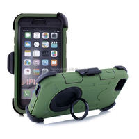 Top selling shockproof silicone + hard plastic combination for iphone 6 case holster wholesale