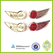 high quality cheap custom metal 2015 pilot wings pin badge