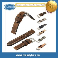 Genuine leather bracelet watch for Apple Watch 38mm 42mm optional