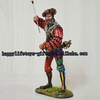 Mini metal soldier figurine, pewter military model