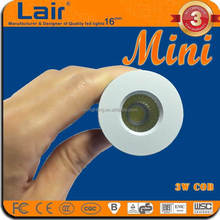 AC85-265V 120lm/W CRI Ra>80 3W cob single mini led light