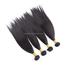 28 inch silk human hair natural color straight I tiphair wefting