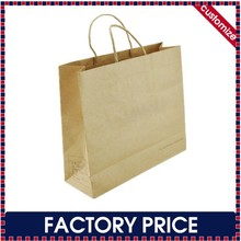 Factory price custom recyclable kraft paper bag with fsc certification, brown kraft paper bag with fsc certification