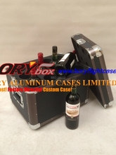 2015 new type aluminum wine case wine travel case for wine transportation