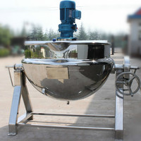 Top quality food mixer heated/steam jacketed kettle/industrial electric cooking pot