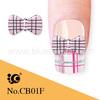 3d nail art accessories wholesale plaid grain design
