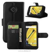 Leather Card Slot Wallet Case Cover For Motorola Moto E 2nd Gen