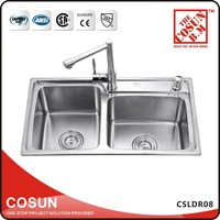 Double Drainer Double Bowl Bowl Sink for Hairdresser