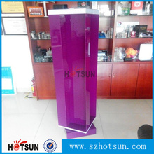 Large Floor Acrylic purple accessories display with metal hook