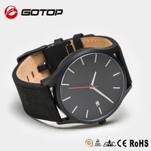 Build Your Watch Brand New Stainless Steel Japan Movement Genuine Leather Strap Quartz Watch MVMT Watch Style,2015 Famous Model