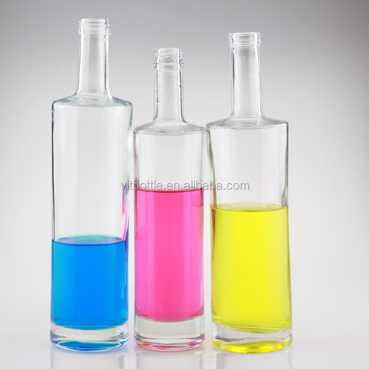 New design long neck bottle soft drink glass bottle glass for How to smooth cut glass bottles