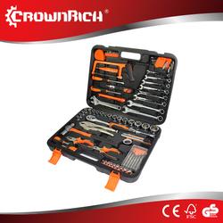 LB-256 78pcs double color hand tool set tool kit in foldable plastic case