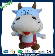 Wholesale cheap high quality stuffed animal toy plush cow