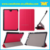 Three fold Stand Leather Folio Case For Samsung Galaxy Tab A, Customized any size of tablet bags