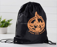 Custom waterproof Polyester drawstring bags with custom Logo from china factory
