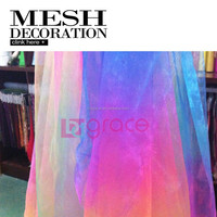GRACE new items rainbow organza fabric for wedding decoration