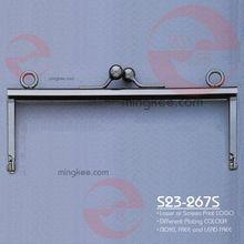 Graceful engraving metal wallet frame