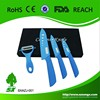 """Ceramic knife set(3"""" paring knife ,4"""" and 5"""" utility knife) with blade covers&ceramic peeler"""