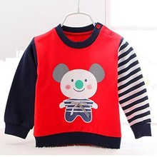 2015 new arrival o neck contrast color o neck printing hoodie for kids