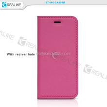 Handmade High Quality Luxury Genuine Leather Covers Thin Cell Phone Cases For Apple iPhone 6/6Plus