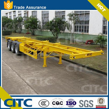 Best Seller 3-axle 20-53ft Skeleton Container Transport Chasis Semi Trailer For Sale