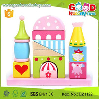 Brand New Pink Color Wooden Toys for kids, Castle Blocks Toys for kids