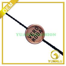 Gold Metal LOGO Tags Printed Fantastic Garment Seal Tags Custom Made