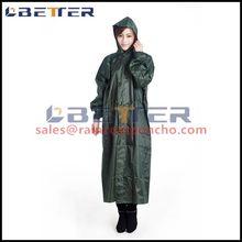 Diaphanous wholesale custom raincoat
