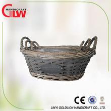 Willow wicker garden flower pots,decorative willow planter for flower