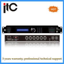 Professional digital karaoke speaker audio processor with DSP
