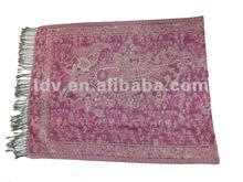 New feel super luxury fashion fall/winter long solid thicker shawl Metallic Paisley stripe Jacquard Flower Pashmina border Shawl